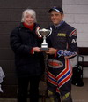 First Summer Championship Winner - Stuart Parnaby 2008 being presented with the trophy by Denise Blanchard