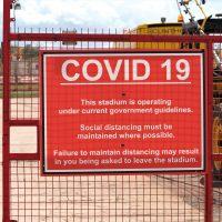 Covid sign